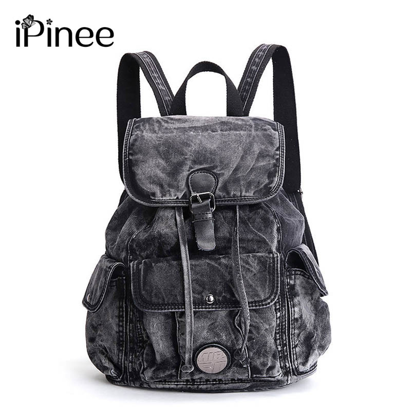 iPinee Womens Backpack Denim Daily Backpack Vintage Backpacks Travel Lay Bag 2017 Rucksack Bagpack<br>