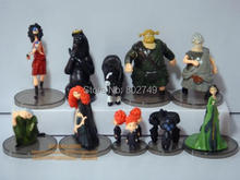 10pcs/lot Brave Toy PVC Action Figures doll Merida Black Bear Collections Children gifts 5-11.5cm