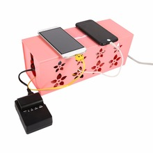 Pink Wire Box Cable Management Box Practical Power Strip Plug Socket Storage Case Wire Tidy Box