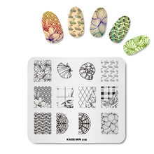 Rolabling MIN 016 Flower & Sea Shell Image Nail Art Decorations Stamp Manicure Plate Templates DIY Image Nail Polish Stamp(China)