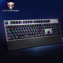Motospeed CK108 USB Wired Mechanical Gaming Keyboard with RGB 104 Keys / 18 Backlight Modes Keyboard for Computer