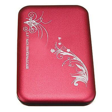 "2.5"" Flower External Hard Drive Disk USB 2.0 SATA HDD Case Box Enclosure Red"