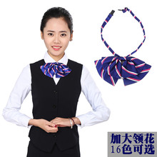 Bank Hotel customer service work with airline stewardess occupation dress shirts packed bow tie female flowers increase(China)