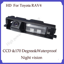 For Toyota RAV-4 parking camera HD  Night vision CCD 170 degree Parking assistance Security car rear backup camera