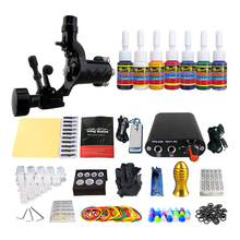 Professional Tattoo Machine Set 1 Tatoo Guns 8 Color Inks complete tattoo kit rotary tattoo Machine Cosmetics Make Up Tattoo ART