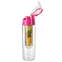Water Bottles 800ml Drinkware Cycling Sports Fruit Infusing Water Lemon Juice Bicycle Health Bottle Flip Lid With Box MS088(China)