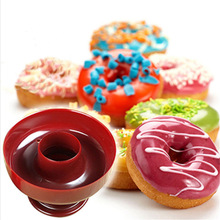 WOFO Diy Plastic Dessert Donuts Baking Tools Cake Mold Biscuits Die Dessert Making Baking Tools Random Color