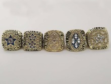 Factory Direct Sale Replica Super Bowl 5 Years Sets 1971/1977/1992/1993/1995 Dallas Cowboys Championship Rings(China)