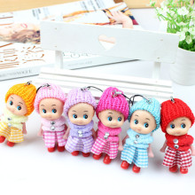 Kawaii 6pcs/lot mini soft Interactive Baby Dolls Toy for children house decoration