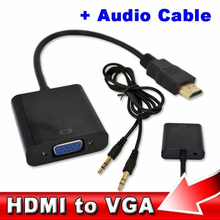 2017 1pcs Video Converter Wholesale HDMI Male to VGA RGB Female HDMI to VGA Cable 1080P for PC Laptop(China)