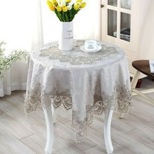 Gray European embroidery table cloth mat tablecloth lace tablecloth table dinner runner square round Garden wholesale FG605(China)