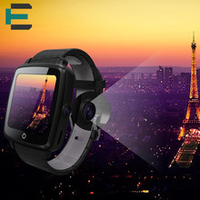 "E T U11C smart wrist watch 1.54"" MTK252C 0.3MP HD camera support SIM heart rate smartwatch for iphone android leather strap"