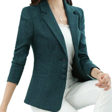M-5XL Candy Color Short Plus Size Spring Autumn Casual Blazer Coat For Women Office Suit Jacket Fashion Blazer Feminino TT3636(China)