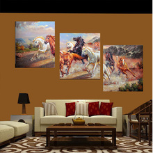 No Frame Canvas Painting Pictures Modular Decorative Horse Pattern On The Wall For Living Room Art Modern Pictures Landscape