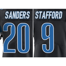 #9 Matthew Stafford #20 Barry Sanders Black Color Rush Limited