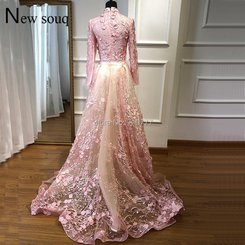 Muslim-Long-Sleeve-Turkish-Arabic-Mermaid-Formal-Evening-Party-Gown-Dress-Robe-De-Soiree-Kaftan-Dubai