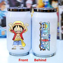 One Piece Stainless Steel Vacuum Cup Monkey D Luffy Cans Insulation Cups Anime Creative Student Cup