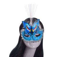 Halloween Airsoft Mask Ladies Women Butterfly Mask Luminous Halloween Costume Ball Accessory Colorful Mascaras Disfraces