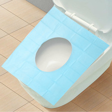 10Pcs/Lot Bathroom Carpet Set Toilet Seat Cover Disposable Toilet Mat Travel 100% Waterproof Monolithic Bacteria Dress F1395(10)(China)