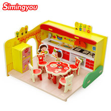 Simingyou 3D Wooden Toys Everybody Assembles Toy Dream Kitchen Montessori Educational  A50-0149 Drop Shipping