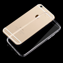 Ultra Slim Crystal Clear TPU Case for iPhone 4 4s 5 5s 6 6s 6plus Silicone Protective sleeve cover for iPhone 6s plus(China)