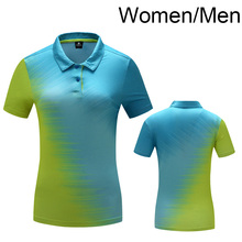 Free Printing Name Tennis shirt Women/Men, Badminton shirt , table tennis shirt POLO T Shirts Quick Dry tshirt M1001(China)