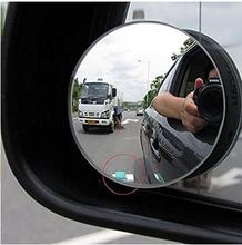1Pair 360 Degree Car mirror Wide Angle Round Convex Blind Spot mirror for parking Rear view mirror Rain Shade