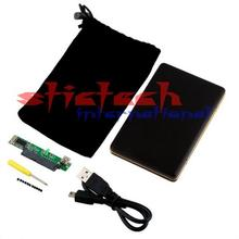 by dhl or ems 200pcs Black Portable ATA 2.5 Inch USB 2.0 SATA Hard Disk Drive HDD External Enclosure Case Box