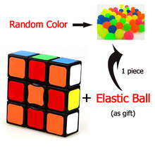 1 PCS Neo Cube Spinner Fidget Cube 1x3x3 Magic Cube Add 1 PCS Random Colours 3.0 CM Diameter Elastic Ball As Gift For Children