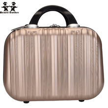 wenjie brother New hot selling hand cosmetic case Makeup Case Beauty Case Cosmetic Bag Lockable Jewelry Box for ladys gift(China)