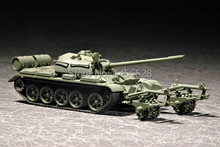 TRUMPETER  07283   1/72  T-55 with KMT-5   Assembly Model kits scale model  3D puzzle vehicle model
