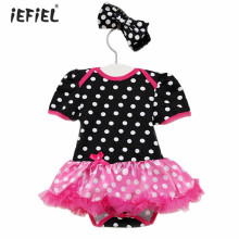 Newborn 1st birthday Toddler Outfits Baby Romper Dress Baby Girl Summer Clothes Cheap Infant Baby Girl Clothing Set Outfit