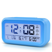 2017 new led  Voice broadcast alarm clock radio timer calendar display table thermometer Backlight Snooze music Set the time
