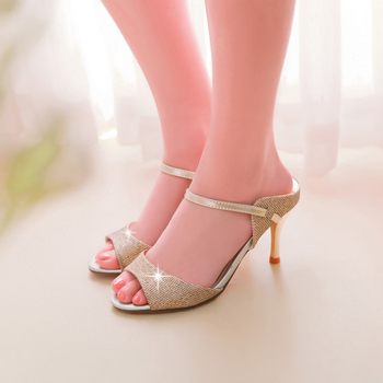 2017 New Fashion Ladies Shoes Big Plus Size Shoes Women Sandals Bottom High Heels Sapato Feminino Summer Style Chaussure Femme
