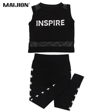 MAIJION Women Sport Vest & Yoga Pants Sport Suit Running Sets Slim Yoga Fitness Training Set For Women Gym Sportswear Tracksuit(China)