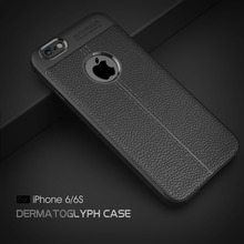 PU Leather Back Case for iPhone 6 6S Soft TPU Luxury Cover Shockproof Mobile Phone Cases Silicone Shell for Apple iPhone 6 6S(China)