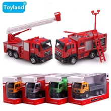 Metal 1:55 Alloy Firetruck/Deluxe Fire Truck/Garbage truck/Concrete car/Dump truck/engineering truck Metal Toys Car gift for Kid