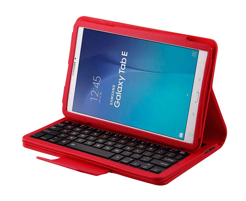 Removable Bluetooth Russian/Hebrew/Spanish Keyboard Stand PU Leather Case Cover For Samsung Galaxy Tab E 9.6 T560 T561 Tablet<br>