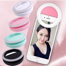 New Universal Mobile Phone Selfie Light Clip-On Design Luminous Lamp LED Flash Light Phone Ring for Iphone5 6 7 Samsung Xiaomi