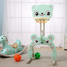 Infant Shining Indoor Sports Toys Basketball Stands Football Gate Cartoon Cat Sports Park Toy Can be Adjust heights