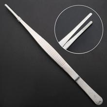 30cm Toothed Tweezers Barbecue Stainless Steel Long Food Tongs Straight Home Medical Tweezers Garden Kitchen BBQ Tool