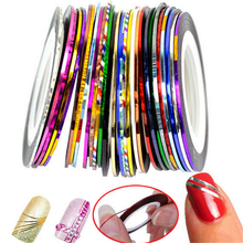 Women Nail Art Sticker Beauty Decorations Tools Rolls Striping Tape Line 10 18 30 Colors for On Nail Stickers BU199JY