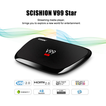 SCISHION V99 Star Android TV Box Rockchip 3368 Octa-core CPU Dual Band WiFi Support for KODI 16.1 2G RAM 16G ROM Set Top Box