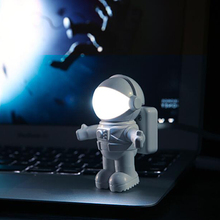 Astronaut Spaceman USB rechargeable Night Light LED Desk Lamp Keyboard Book Reading For Computer PC Laptop creative gift C100001