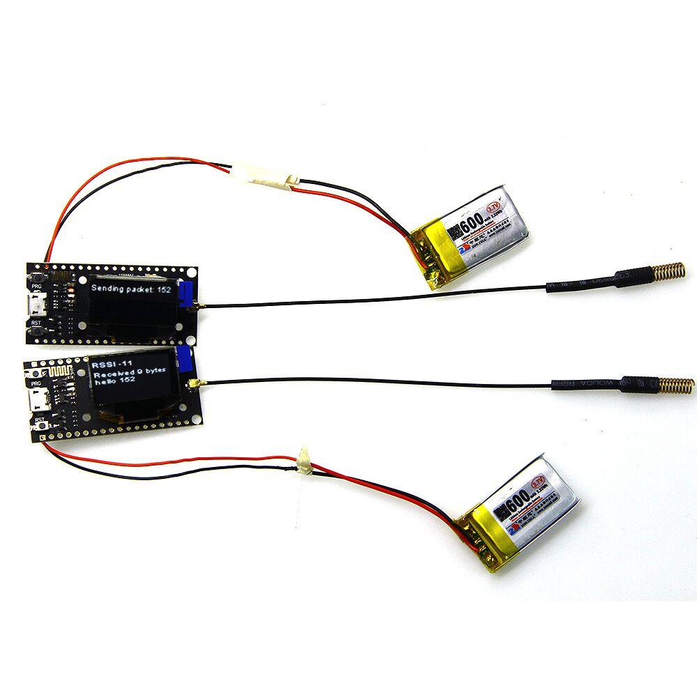2個TTGO 433Mhz LORA SX1278 ESP32 0.96 Arduino用OLEDディスプレイモジュールLILYGO-公式Arduinoボードで動作する製品