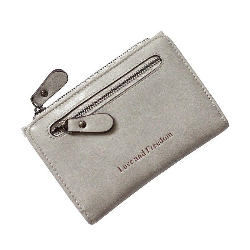 2016 Fashion New Korean Version Big Capacity Ladies Small Purses High Quality Retro Simple 2 Fold Buckle Double Zipper Purse<br><br>Aliexpress