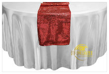 Luxury Red Sequin Table Runner High Quality Sequin Table Runner For Wedding  Party