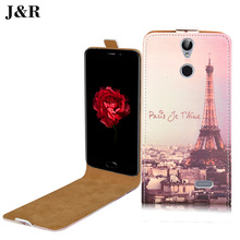 J&R for Vernee Thor Case Leather Painting Drawing for Vernee Thor 5.0 inch Vertical Flip Cover Phone bag