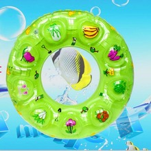 Swimming Ring Children Thickening Crystal Swimming Pool Pvc Inflatable Sitting Circle Under The Armpit Swimming Circle LL826(China)