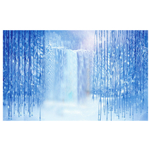 Top Deals Thin Vinyl Studio Ice Snow Backdrop Photography Photo Background 10x10ft(China)